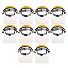 10Pack Anti-UV Face Shields Clear Grinding Solder Masks Glasses Grinding Helmets