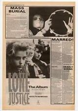 Lone Justice Ways To Be Wicked Advert NME Cutting 1985