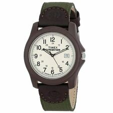 Timex Men's Gents Green Nylon Strap Expedition Camper Quartz Analog Watch New