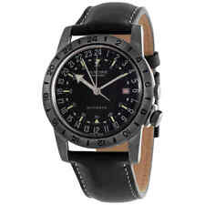 """Glycine Airman Vintage """"The Chief"""" GMT Automatic Black Dial Men's Watch GL0246"""