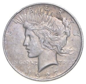 Better - 1927-D - Peace Silver Dollar - 90% US Coin *403