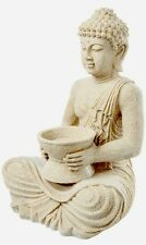 42cm GRANDE EFFETTO PIETRA Buddha portacandele Ornamento Giardino int. EST.