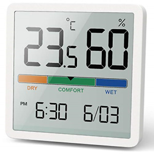 NOKLEAD Hygrometer Indoor Thermometer, Desktop Digital Thermometer with and Room