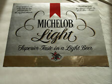 vintage 1979 Michelob Light glossy large label poster