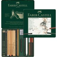 #112976 Faber Castell Tin of 21 Pitt Monochrome Pencils Set Artists Collection