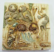 Tile Figurine Noah's Park Flume Lagoon Harmony Kingdom Picturesque #Pxnd3 Nos