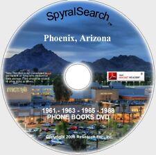 AZ - Phoenix 1960's Collection DVD: 4 Phone Books 1961 - 1963 - 1965 - 1968