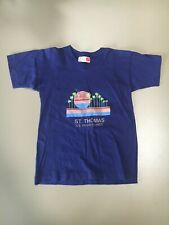 Vintage (80's) Child's St. Thomas T -Shirt Size 28 (Small) Navy Blue