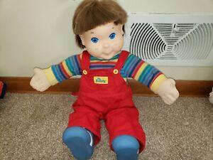 Vintage 1985 Hasbro Playskool My Buddy Doll Original Red Bib Overal Shirt Shoes