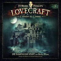 H.P. LOVECRAFT - CHRONIKEN DES GRAUENS DIE NAMENLOSE STADT FOLGE 3  CD NEU