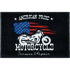 Waschbare Fußmatte Route 66 - American Pride Motorrad 75x120 cm Wash+Dry Läufer