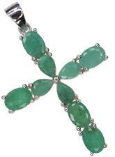 "Emerald Natural 18 - 19.99"" Fine Necklaces & Pendants"