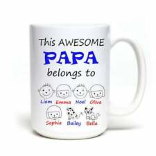 Personalized Grandpa Coffee Mug A Perfect Gift For Your Papa Or Grandpa Custom