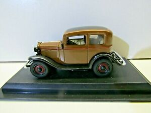 Amercom Collection 1:43 Scale Die Cast Model 1935 Opel P4 - Brown