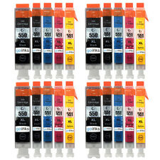20 Ink Cartridges (Set) for Canon Pixma iP8750 MG5450 MG6350 MG7150