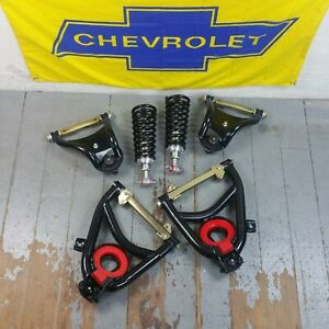 1955-57 Chevy Bel Air Tri-Five Front Tubular A-Arms & 500lb SBC LSX Coilover Kit