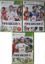 FIFA Soccer Bundle (Microsoft Xbox 360, 2010-2012) *Complete*