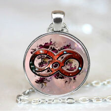Cosmic Infinity photo Tibet silver Cabochon glass pendant chain Necklace