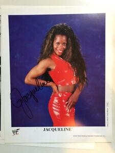 JACQUELINE    8x10 photo wwf AUTOGRAPHED