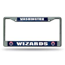 Washington Wizards NBA Chrome Metal License Plate Frame