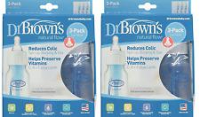Dr Browns BPA Free Polypropylene Bottles, 3 Bottles - 4 oz (2 Pack)