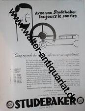 Studebaker Automobiles Cars Autos XXL-Werbeanzeige anno 1928 Reklame advertising