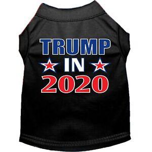 Mirage Pet Products Trump In 2020 Screen Print Dog Shirt Black XS