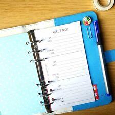 Address List / Address Book / Contacts Personal Planner Filofax Kikki K Inserts