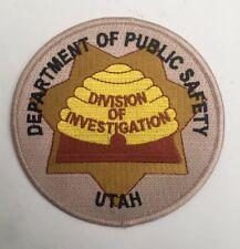 Utah Dept of Public Safety -  Division of Investigations old shoulder patch