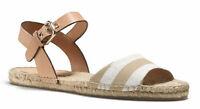 Coach Reena Getaway Cabana Espadrille Women's Sandals Size US 7 M Khaki / White