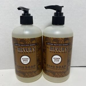 Mrs. Meyer's Acorn Spice Liquid Hand Soap 12.5 Limited Edition Scent!! 2 Pack