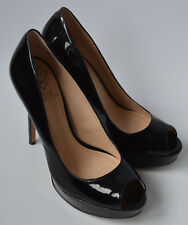 Ladies Vince Camuto Black Patent Leather Platform Stiletto Shoes Size Uk 4