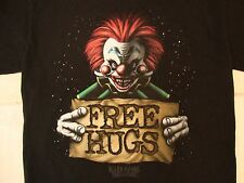 """Killer Klowns From Outer Space """"Free Hugs"""" Scary Horror Movie Black T Shirt S"""