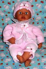 """Nouveau rose froncée poupées outfit clothes baby annabell chou vivant reborn 19"""" 20"""""""