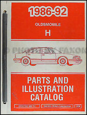 1990 1991 1992 Olds 88 Parts Book Oldsmobile Catalog Brougham Royale Delta
