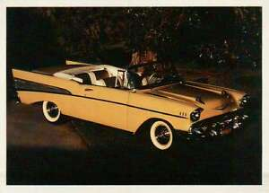 Chevy Bel Air 1957 Chevrolet, Dream Cars Trading Card, Automobile - Not Postcard