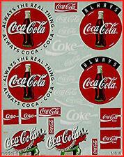 Coca Cola 2 Sponsoren Bogen 1:87 Decal Abziehbilder