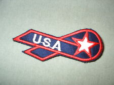 USA Ribbon Pin Red White and Blue Pride Sept 11 Patriot