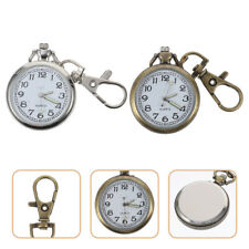 Watch Keychain Vintage Key Ring 2Pcs Modern Stylish Retro Pocket