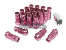 NNR Steel Extended Wheel Lug Nuts & Locks Open Ended Pink 49mm 12x1.5 20pcs