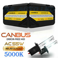 H7 KIT 55W AC DIGITAL HID XENON CONVERSION CANBUS 5000K BMW 5 SERIES E39