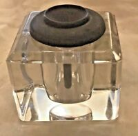 """Antique Ink Well Solid Glass  2.5"""" Square"""