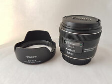 Canon EF 28mm f/2.8 IS USM  with Canon hood and caps