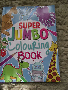 A4 Super Jumbo Kids Colouring Book and 10 Double-ended pencils