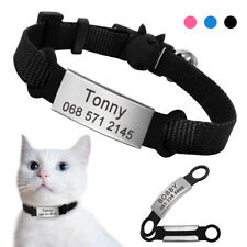 Breakaway Cat Collar Quick Release With Personalized ID Tags Engraved Name Phone