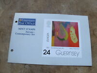 1993 Guernsey Mint Stamps presentation pack - Contemporary Art / Europa
