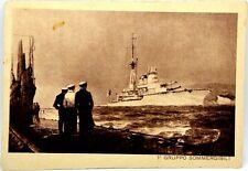 Cartolina Marina - 1° Gruppo Sommergibili - Non Viaggiata