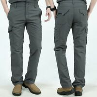 Men Tactical Pants Combat Quick Dry Lightweight Cargo Hiking Hunting Trousers