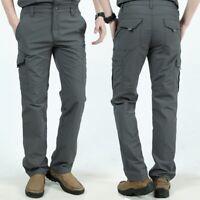 Waterproof Tactical Cargo pants Mens Casual Pants Trousers Combat SWAT Army IX9