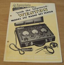 "1929 Advertising Brochure~""Weston Electrical Instruments""~Ac/Dc Tester~"